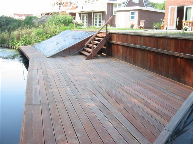 08 10 2006 het terras aan de achterkant images frompo - Bedek een houten terras ...